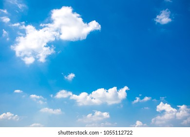 Group of clouds in the blue sky background.