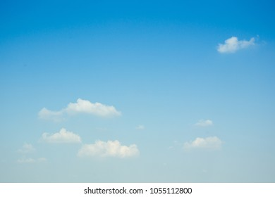 Group of clouds in the blue sky in sunny and clear day.