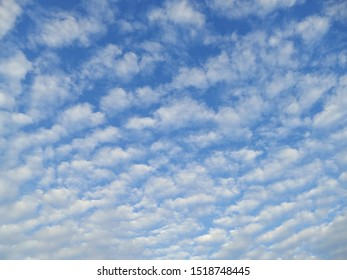group of clouds which similar to cotton ball  in the sky during morning / sunrise in Fall season