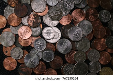 Group of coins, Pile of coins, US coins