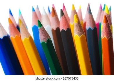 Group of color pencils