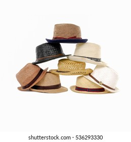 Group of colored hats