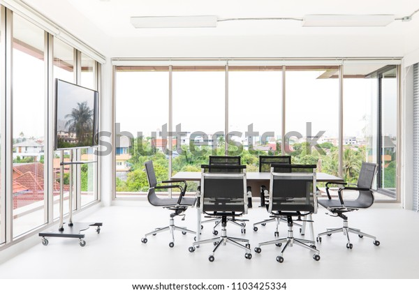 Superb Group Conference Table Chairs White Wide Stock Photo Edit Download Free Architecture Designs Ferenbritishbridgeorg