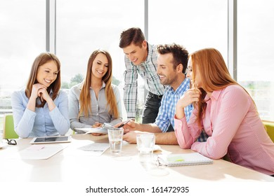 Group of corporate employees meeting