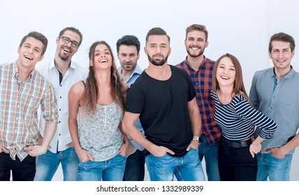 group of creative youth standing together