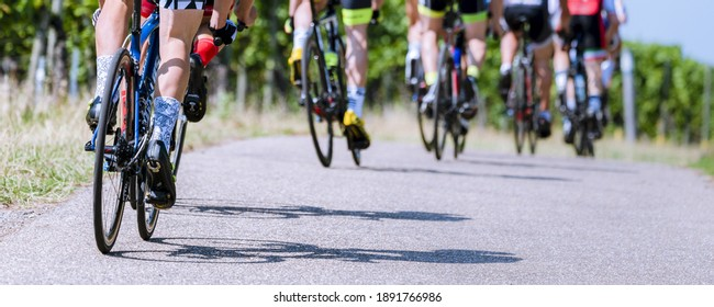Group of cyclist in a bicycle race