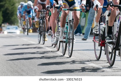 Gruppe von Radfahrern bei beruflicher Rasse