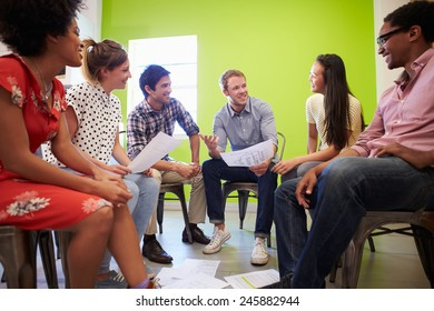 Group Of Designers Meeting To Discuss New Ideas