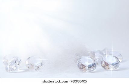 Group of diamonds on a white background.