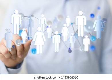 group digital concept in hand
