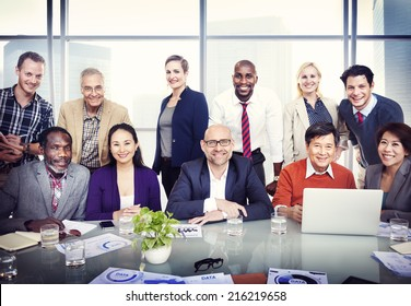 Group of Diverse Business People in a Board Room