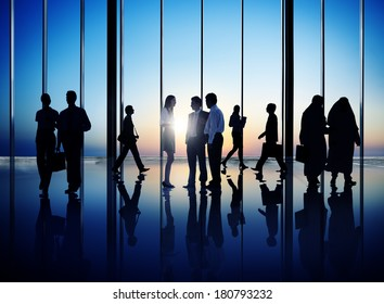 Group of Diverse Business People in Office Building