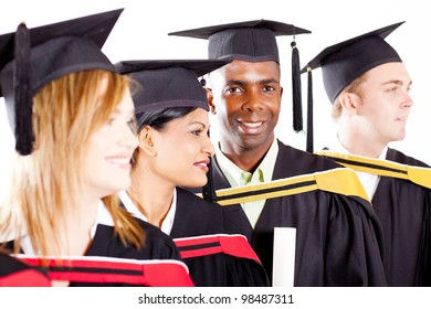 group of diverse graduates at graduation