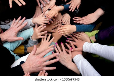 Group of Diverse Hands Together Family Concept.