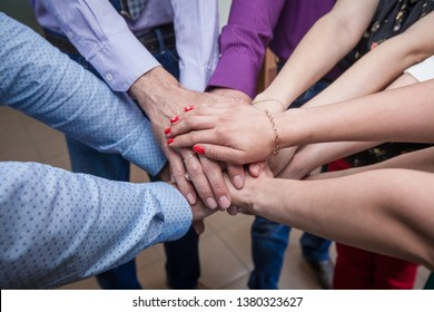Group of Diverse Hands Together Joining Concept -