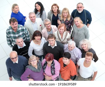 group of diverse mature people, looking at you