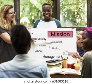 Group of diverse people in a business meeting