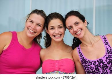 group of diverse women wearing pink