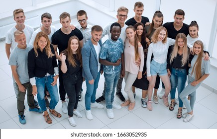 group of diverse young people looking at the camera