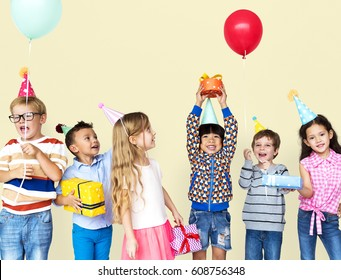 Group of Diversity Kids Party Together
