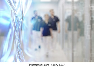 group of doctors operation blurred background / blurred background modern medical clinic doctors on surgery, surgeons at work