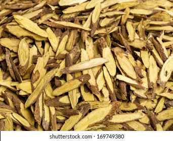 Group of dry burdock root