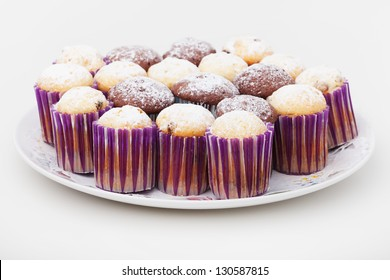 Group of easter cakes on plate