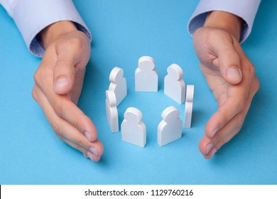 Group of employees. How to keep a team of employees. Insurance of workers