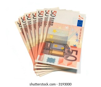 A group of Euro bank notes