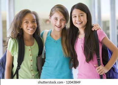 Group of female elementary school friends
