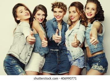 group five girls friends stock photo edit now 363548849 shutterstock