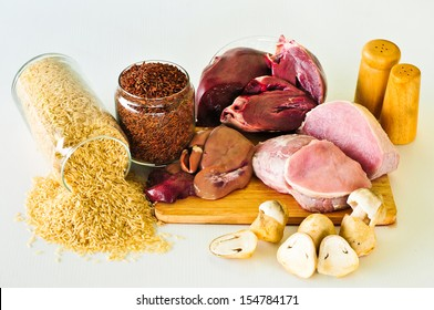 Group of foods with Vitamin B1(Thiamine Hydrochloride) isolated