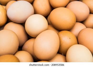 Group of fresh eggs, Thailand