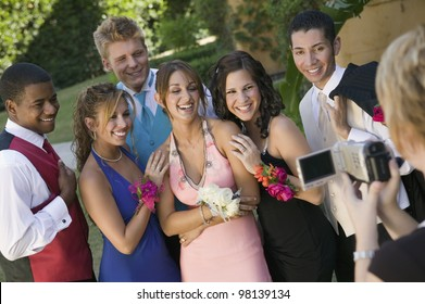 Group of Friends Being Videotaped at School Dance