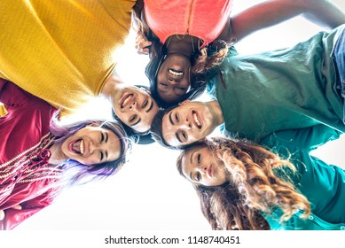 Group of friends bonding and having fun outdoors