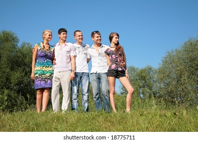 Group of friends outdoor in summer