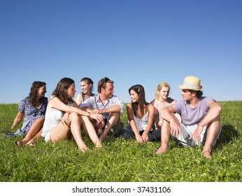 Group of friends sitting