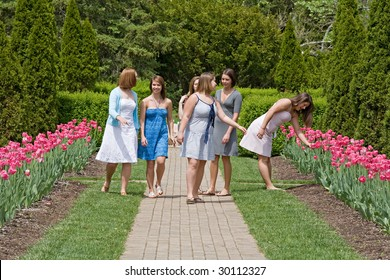 Group of Girls in the Park