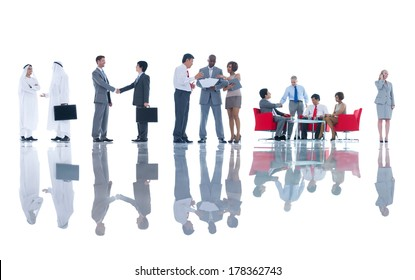 Group of Global Business People Meeting