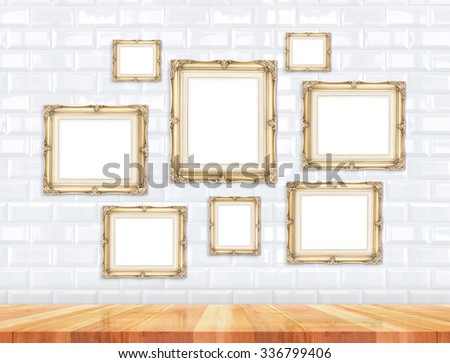 Group Golden Victorian Style Vintage Frames Stock Photo (Edit Now ...
