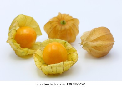 Group of gooseberry on white background.