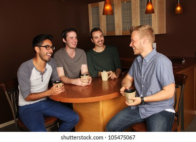 Group of guys at the Coffee Shop