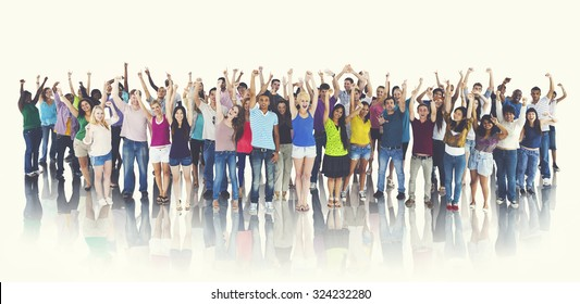 Group of Happy Students Celebration Cheerful Concept