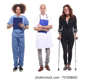 Group of health care people