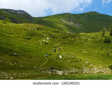 Group of hikers in a mountain