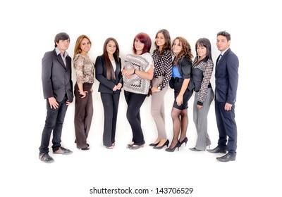 Group of hispanic business people. Business team.
