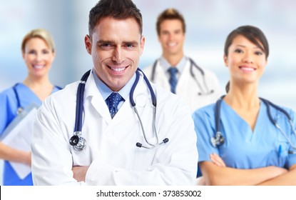 Group of hospital doctors.