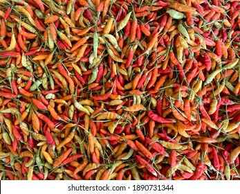Group of hot chilli peppers pattern texture background
