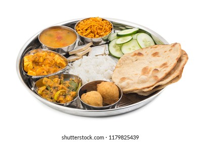 Group of Indian Food or Indian Thali