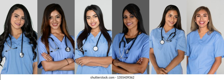Group of Indian nurses working in the hosptial